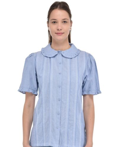Chambray classica Collar di Camicia Pan Peter waqZUUOz