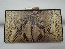 AUTH portefeuille-porte-monnaie   en python véritable et cuir  TBEG vintage