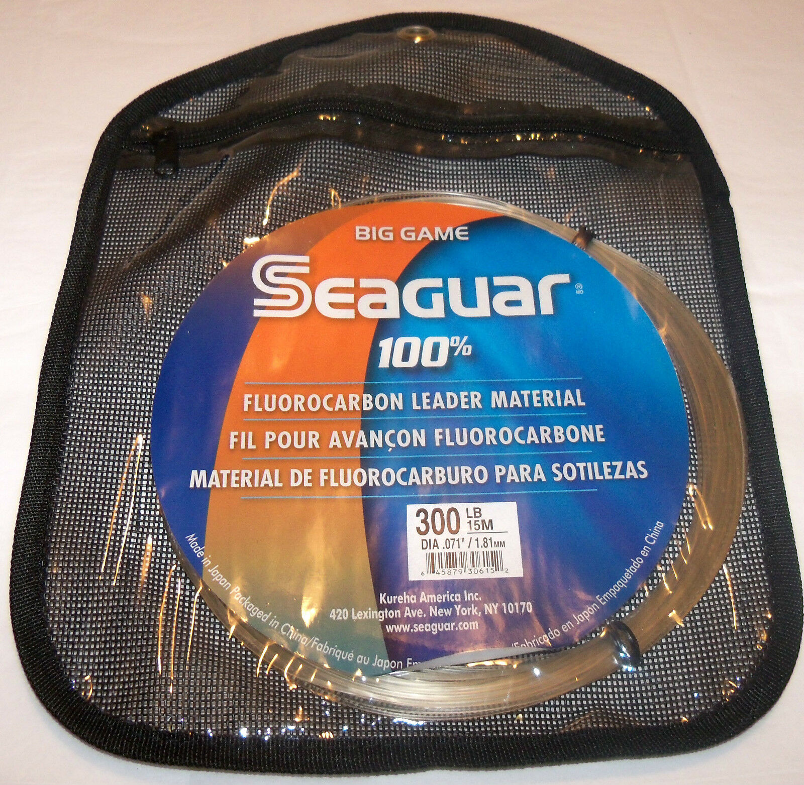 SEAGUAR - BIG GAME blueE LABEL  - 100% FLUgoldCARBON LEADER 15 METER COIL - CLEAR  selling well all over the world