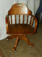 Oak Office Chair / Armchair  (AC146)