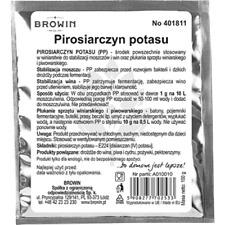 Kaliumdisulfit TURBO 15g Schwefelpulver Kaliumpyrosulfit Desinfektionsmittel