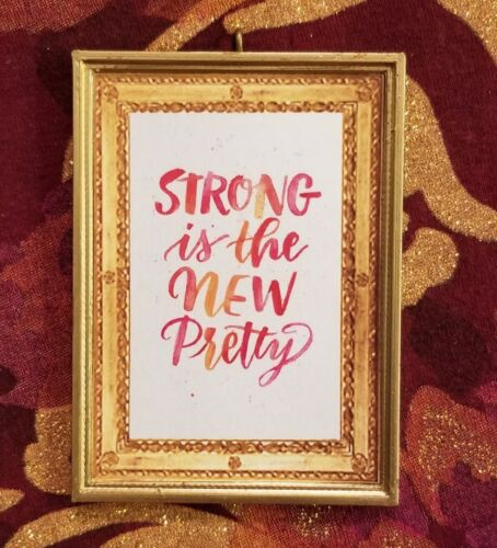Strong Is The New Pretty Girl Power Inspirational Christmas Tree Ornament