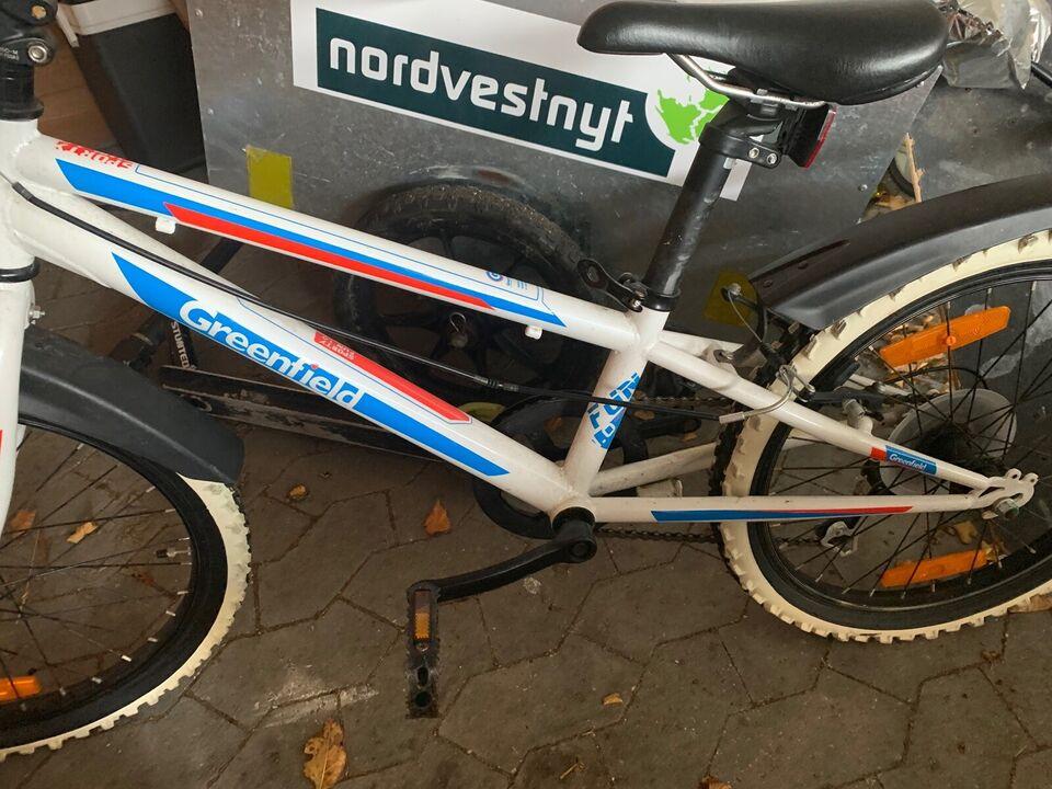 Drengecykel, mountainbike, Greenfield