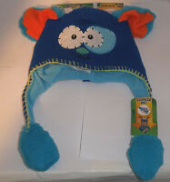 Flipeez Playful Puppy Hat Beanie Blue One Size Fits All As Seen On Tv