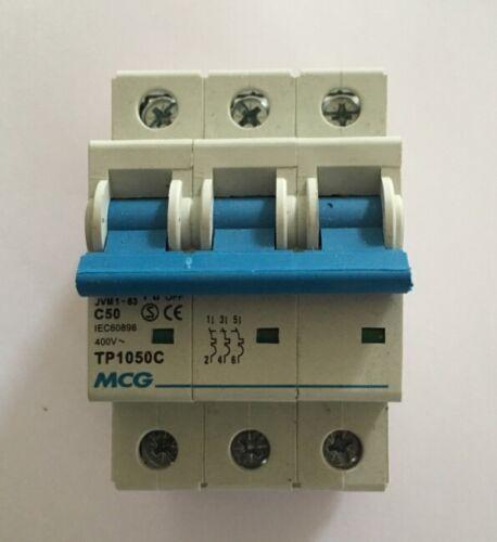 Mcg 50 Amp Tipo X 6 Ka Triple Polo Mcb Disyuntor jvm1-63 tp1050c