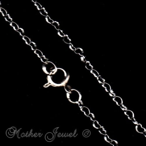 """LOVELY 45CM LOVE HEART LINK WHITE GOLD PLATED CHAIN LADIES GIRLS NECKLACE 18/"""""""