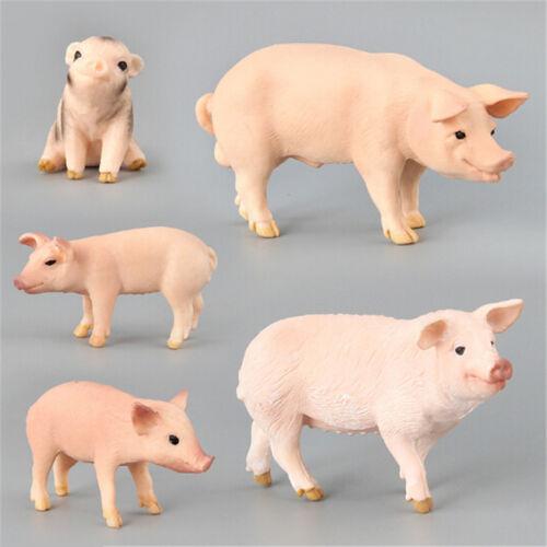 Simulation Animal Pig Model Toy Figurine Decor Plastic Animal Model Kids Gift TE