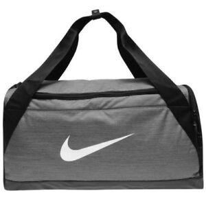 ed82b95ca NEW Nike Brasilia Small Sports Gym Bag Grey Holdall NEW | eBay