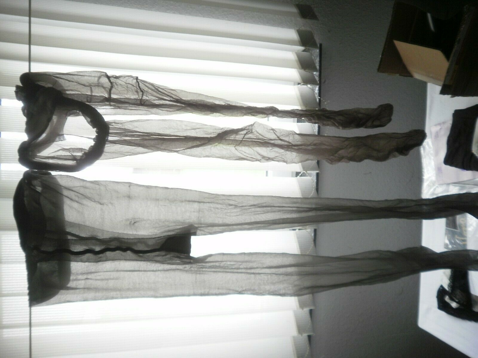 2 Paar feinste Nylons Gr.XL in Mokka
