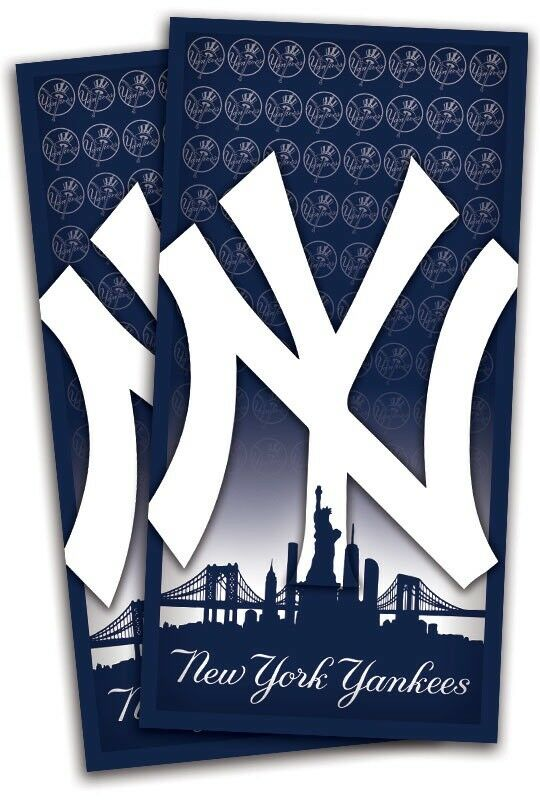 New York Yankees Cornhole Wrap Decals Bag Toss 3M Vinyl 24x48