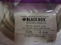 Eyn257t-0015-mf Black Box Cable, Db9m/db9f 15ft Null Modem Brand