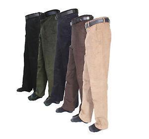 Algodon-para-Hombre-De-Pana-Cable-Negro-Marina-causal-Pantalones-Pantalones-Pantalones-Tamanos