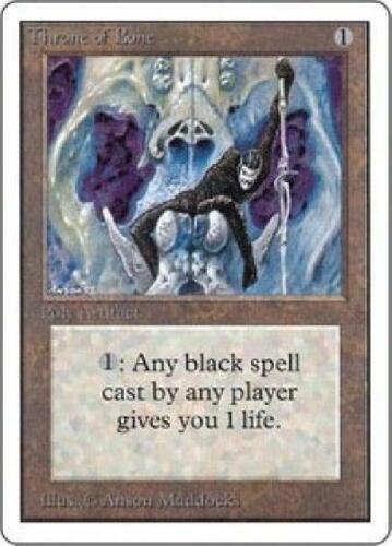 2x Throne of Bone PL MTG Unlimited UL Magic Gathering