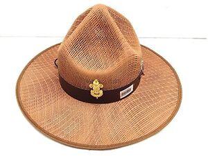 850ab2dec2300 Boy Scout Stetson Safari Khaki Baden Badge Cow Sheriff Hat Plastic ...