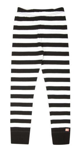Katvig Kinder Leggings aus Bio-Baumwolle gestreift schwarz//weiß
