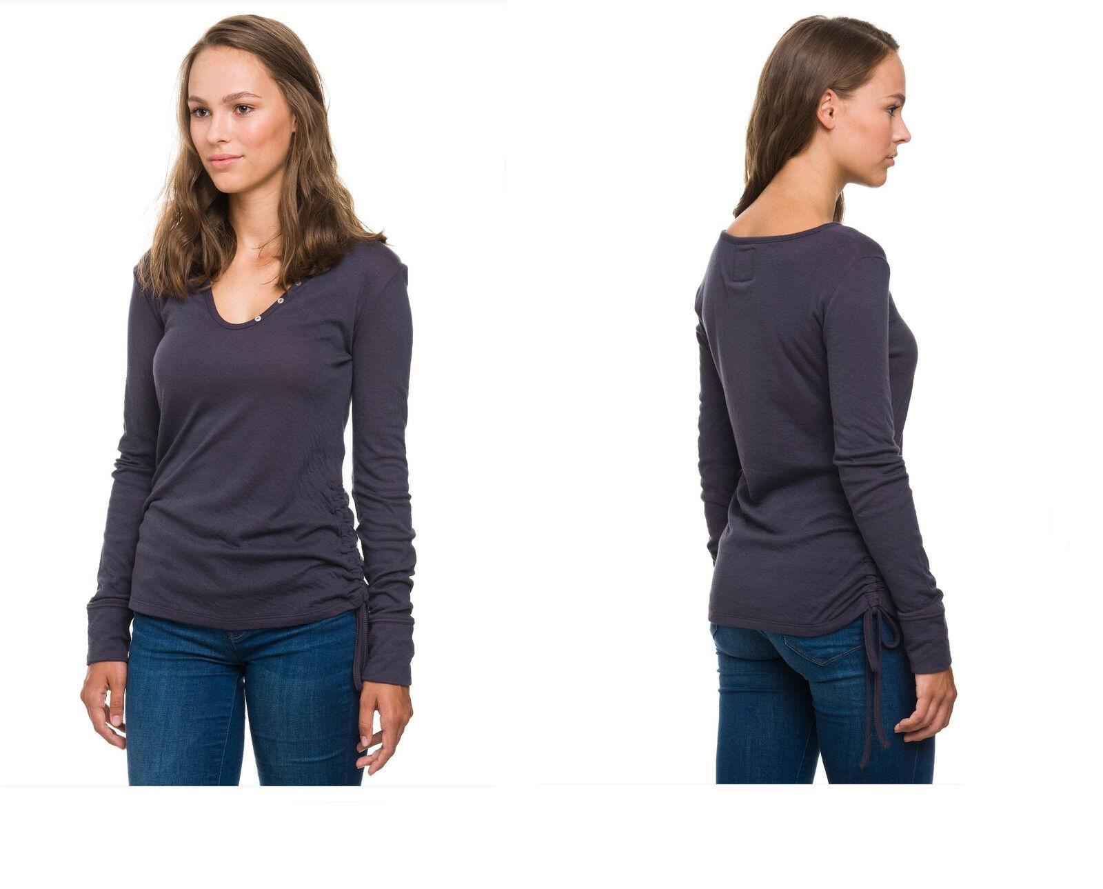 Evermind Damen Oberteil T-shirt Bio-Baumwolle Sweatshirt Sweatshirt Sweatshirt Top Langarm Pullover    Passend In Der Farbe    Starker Wert    Verschiedene Waren    Elegante Form    Neuankömmling  f39f6f