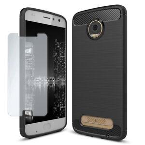 Pour-Motorola-Moto-E4-plus-Full-Cover-avec-verre-trempe-Slim-Antichoc-Case