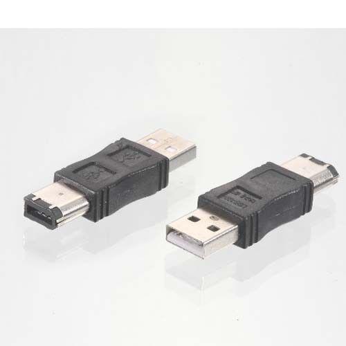 NEW Firewire IEEE 1394 6 Pin to USB 2.0 Male Adaptor Convertor 1PCS