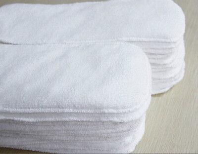 S Reusable Washable Cloth Diaper Nappy Hemp Microfiber Bamboo Charcoal Insert