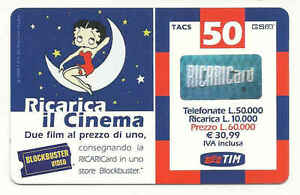 TIM BETTY BOOP RICARICA IL CINEMA BLOCKBUSTER VIDEO - Italia - TIM BETTY BOOP RICARICA IL CINEMA BLOCKBUSTER VIDEO - Italia