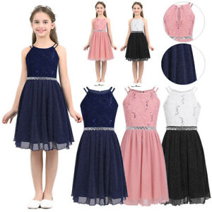2ed61b422 Image is loading Flower-Girl-Princess-Dress-Pageant-Wedding-Birthday-Party-