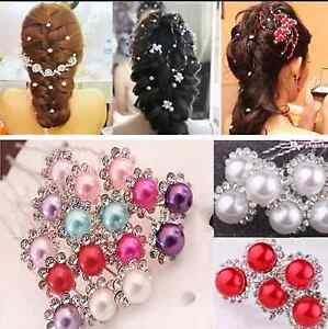 UK-SELLER-Bridal-Wedding-Prom-Crystal-Diamante-Rhinestone-Hair-Pins-Clips-Grips