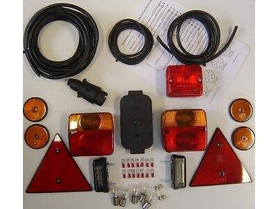 HGW Anhängerbeleuchtung Set - Rücklicht, Seitenstrahler, Kennzeichenleuchte etc.