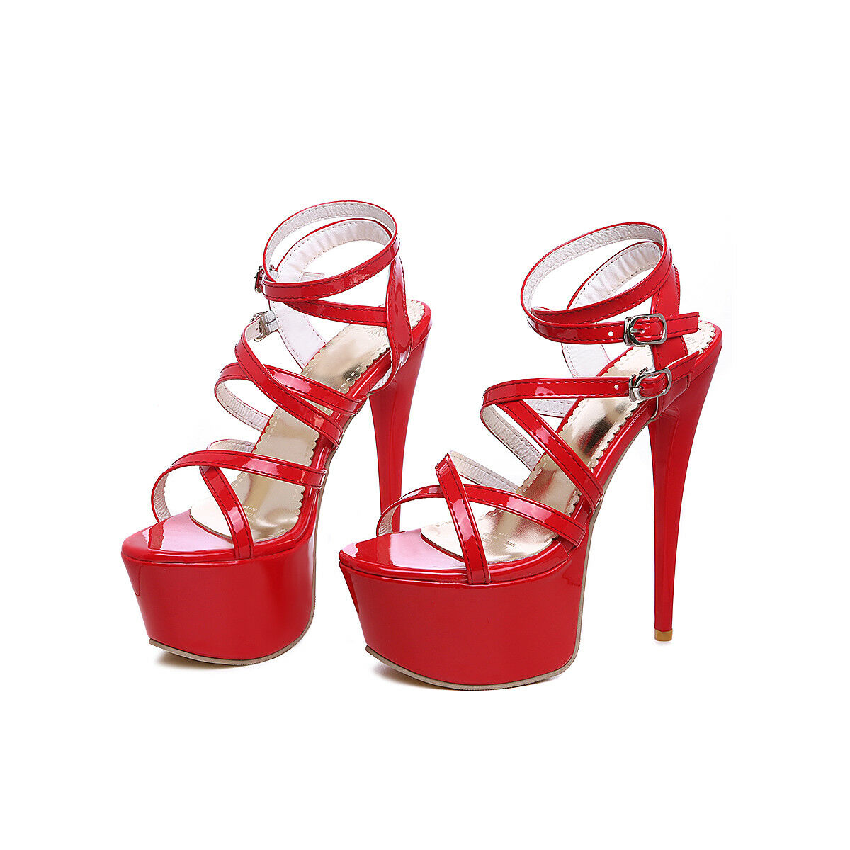 High Heels Damen Plateau Cross Riemchen 16CM Sexy Stilettos Nachtclub Sandale
