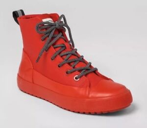 08caa018111 Hunter for Target Adult Unisex Dipped Canvas High Top Sneakers Red ...