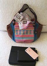 The Sak Indio leather Large tote shoulder bag woven straps