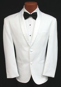 Classic White Shawl Tuxedo Dinner Jacket 2 Button Masonic Shriner ... 02598feb4a2b
