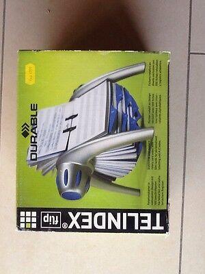Vereinigt Durable 2416 Telindex® Flip Adresskartei Silber/blau Diversifizierte Neueste Designs Papier, Büro- & Schreibwaren