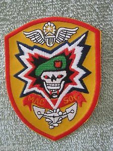 Red military assistance command mac viet sog macv-sog macsog patch.