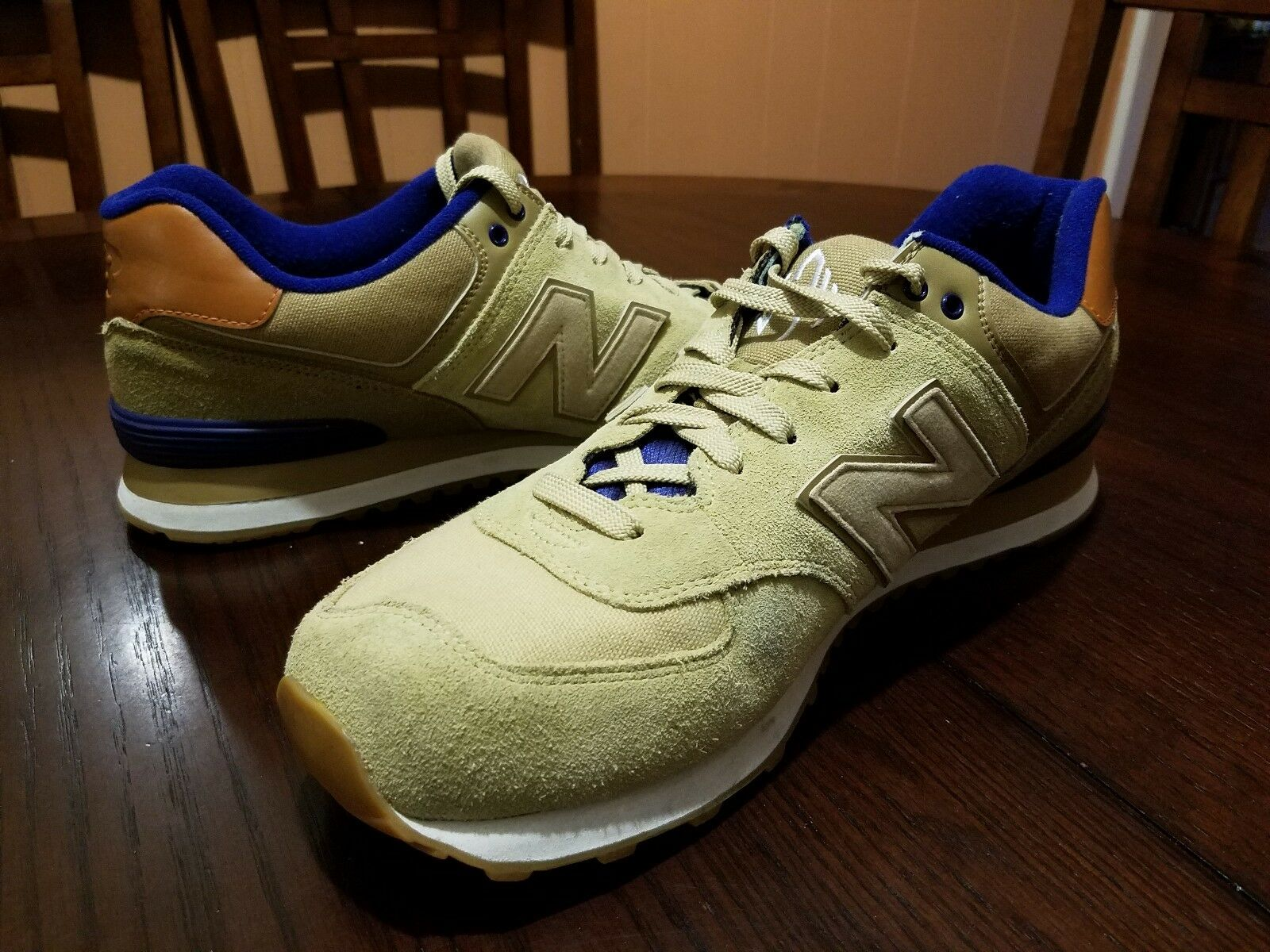 New balance männer beige, braun, blau, wildleder casual sportschuhe sportschuhe sportschuhe größe 13   ml574ned 6e3453