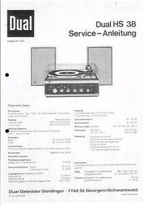 Anleitungen & Schaltbilder Dual Service Manual Für Hs 38 Reich An Poetischer Und Bildlicher Pracht