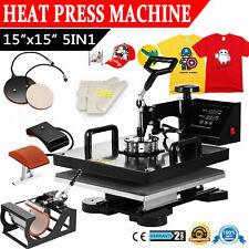 15x15 5 In 1 T Shirt Heat Press Machine Transfer Sublimation Mug Hat Plate