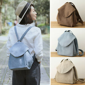 e9f7b44384a8 Details about Women's Canvas Small Backpack Rucksack Daypack Cute Bag Purse  Travel Anti-Theft