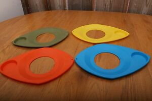 Vintage 4 Paper Plate Cup Holders Plastic Mid Century Modern Picnic ...