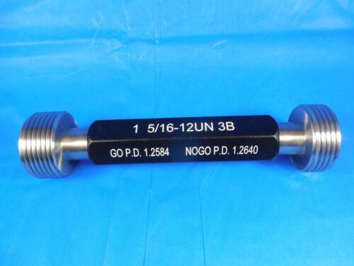 NEW 1 5//16 12 UN 3B THREAD PLUG GAGE 1.3125 GO NO GO P.D./'S = 1.2584 /& 1.2640