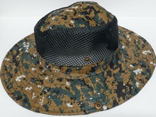 Hunting Hat Mesh Button Up Sides w// Drawstring Men/'s Wide Brim Fishing