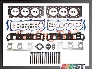 Head Gasket Set Bolt Kit Fits 02-08 Mazda B3000 3.0L V6 OHV 12v VULCAN