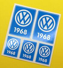 VW 1968 VOLKSWAGEN Year Date stickers INSIDE GLASS BEETLE BAY WINDOW CAMPER
