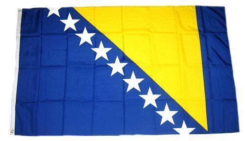 Bosnien Fahne 90 X 150 cm WM Fanartikel