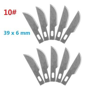 10pcs-10-Replacement-Hobby-Classic-Fine-Point-Blades-high-steel-Craft-Knife