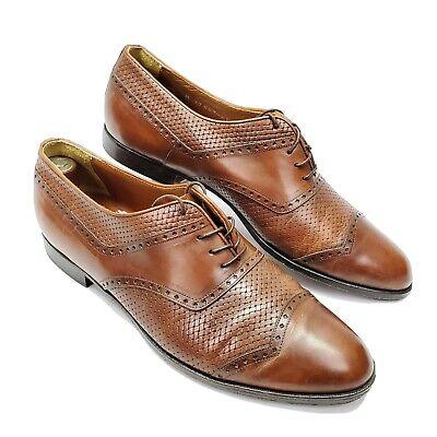Vintage Bostonian Florentine Italian Woven Mens Oxford Shoes