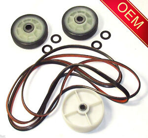 Image is loading MAYTAG-DRYER-ROLLER-BELT-PULLEY-KIT-Y312959-Y303373-
