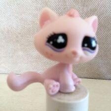 Littlest Pet Shop #606 Pink Sitting Tabby Cat Freckles Purple Clover Eyes 9 pics