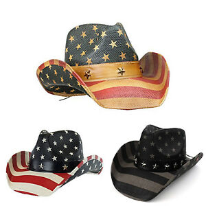2cd9aaa4bdd Men  039 s Vintage Tea-Stained USA American Flag Shape-It Brim ...