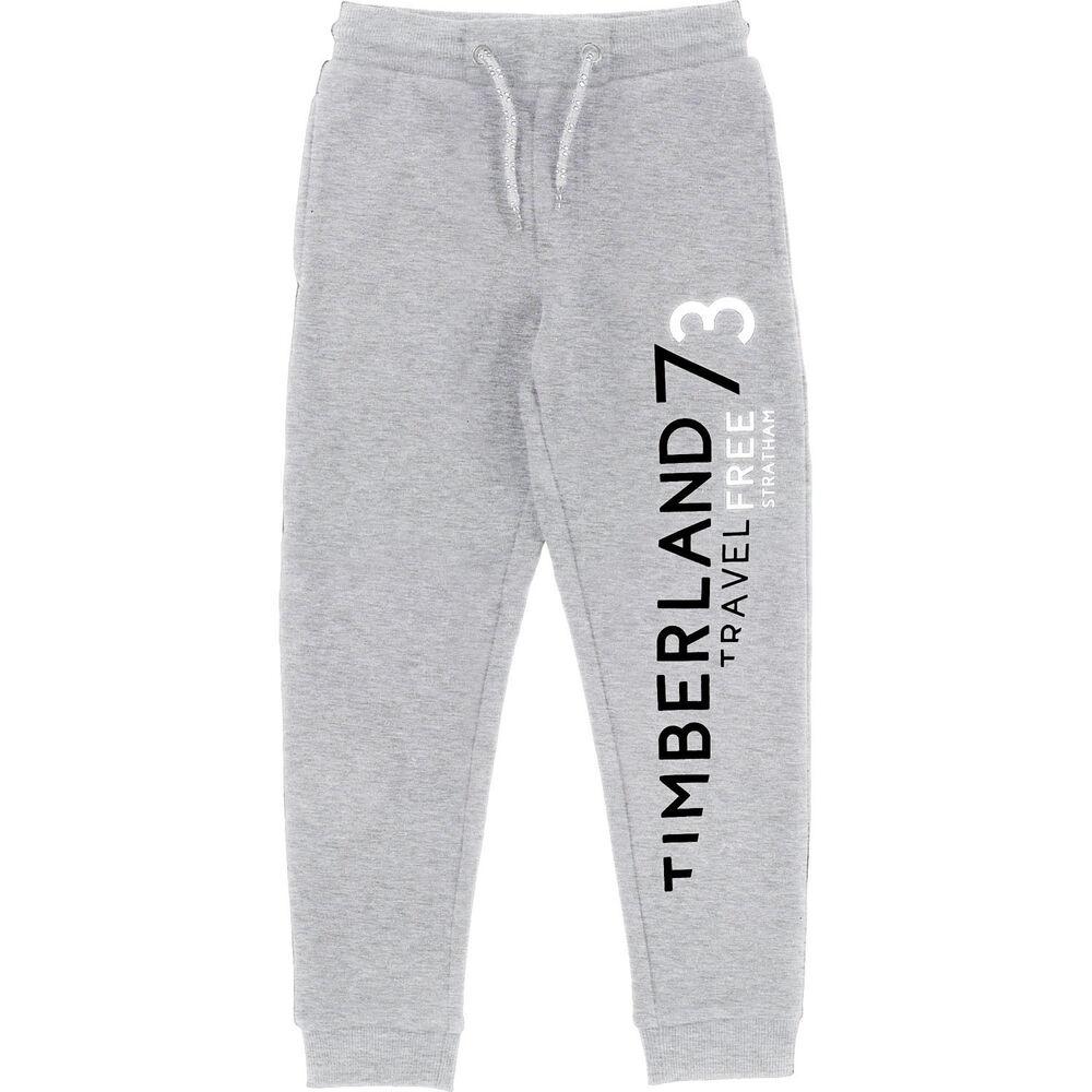 Adroit Timberland Kids Sweatpants Jogging Greymelange Avec Logo Tailles 6-16 Ans Pourtant Pas Vulgaire