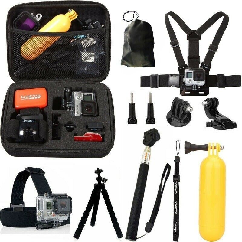 GoPro HERO7 Black Action Camera Accessories Kit For Go Pro Hero 6/5/4 New Model 3